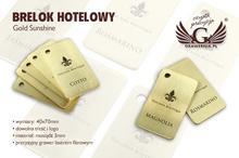 Brelok hotelowy - Gold Sunshine