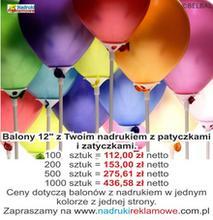 Balony z nadrukiem.