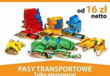 Pasy transportowe, mocowanie ładunków, odzież BHP