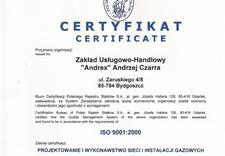przyłącza gazu - ZUH ANDREX Andrzej Czarra zdjęcie 1