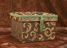 Pudełko dekoracyjne (zielone) 11cm