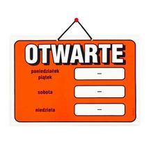 Wywieszki laminowane na drzwi OTWARTE A4
