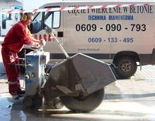Cięcie betonu piłami tarczowymi