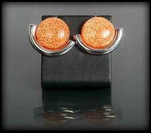 Kolczyki przekłówki stonowany pomarańcz