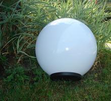 Klosze ogrodowe białe z oprawą i żarówką LED 300mm