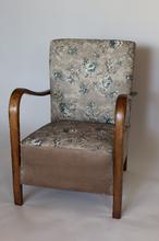 Fotel lata 70 Vintage Art Deco kwiaty Loft