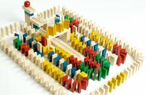 Klocki domino - 800 +30 szt. kolor