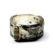 Obrączka srebrna z diamentami