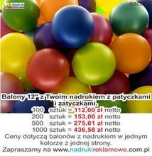 Balony reklamowe.