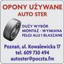 OPONY UŻYWANE AUTO STER Dariusz Stercel - wymiana felgi aluminiowe i blaszane