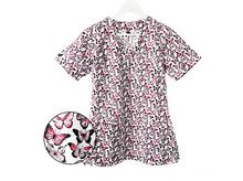 Bluza medyczna damska różowe motylki 100% bawełna