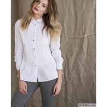 Koszula z falbanką-biała
