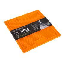 LickiMat Soother soft jeżyk zielona i pomarańczowa