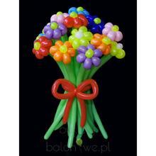 Bukiet balonowy - kwiaty Bukiet kolorowych kwiatów
