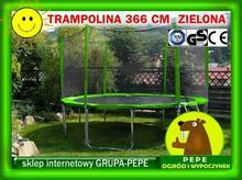 ZIELONA TRAMPOLINA OGRODOWA 12FT-366CM