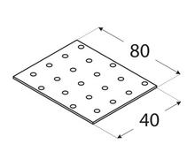 Płytka perforowana PP 01 / 40x80