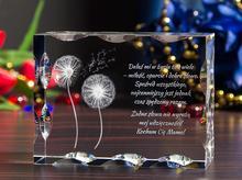 Personalizowany kryształ 3D z dmuchawcami