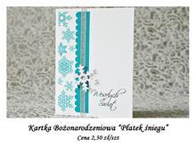 Kartka Bożonarodzeniowa Płatek Śniegu