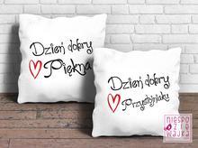 Komplet poduszek dla Pięknej i Przystojniaka