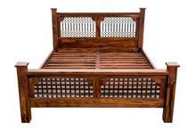 Łóżko z palisandru 180x200 LITE DREWNO (Bed32)