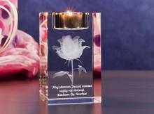 Róża 3D » Kwiat Miłości « świecznik