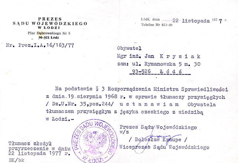 czeski łódź - Tłumacz Przysięgły J. Cze... zdjęcie 5