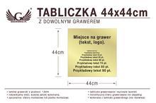 Tabliczka 44x44cm dowolny grawer laserem