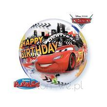 Balon Bubble - McQueen Happy Birthday z helem