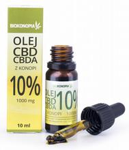 Biokonopia olej CBD + CBDA z konopi 10% 1000 mg