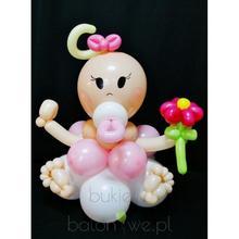 Bukiet balonowy - Figurka dzidziuś dziewczynka