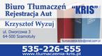 """Biuro Tłumaczeń """"Kris"""" - Szamotuły, Dworcowa 3"""