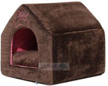 Domek dla psa lub kota Soft Home brązowy