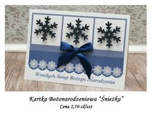 Kartka Bożonarodzeniowa Śnieżka