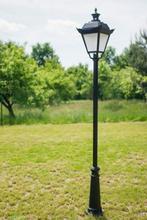 Lampy parkowe, stylowe wys. 2.5 m, klosz mrożony