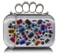 Torebka szkatułka z kolorowymi kryształkami