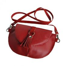 Skórzana torebka dla dziewczynki - czerwona