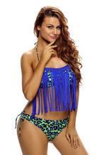 Bikini, frędzle, jakość, panterka, neon, L/XL