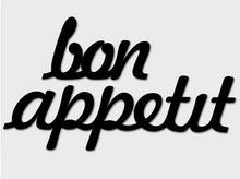 Napis na ścianę Bon Appetit DekoSign czarny