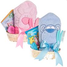 Zestaw do kąpieli - różowy i niebieski