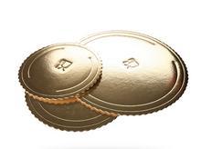 Grube podkłady pod tort okrągłe złote