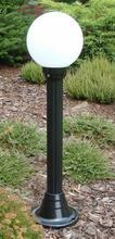 Lampy ogrodowe wys. 110 cm, kula biała 200 mm