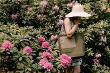 codzienna torebka na ramię z zielonej bawełny
