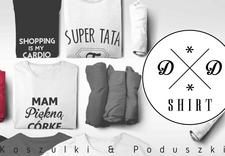 koszulki z nadrukiem, poduszki dekoracyjne