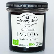 KONFITURA JAGODY I SOK Z CYTRYN BIO 300 g