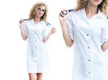 Fartuch damski rozpinany laboratoryjny medyczny