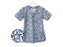 Bluza medyczna niebieskie motylki 100% bawełna