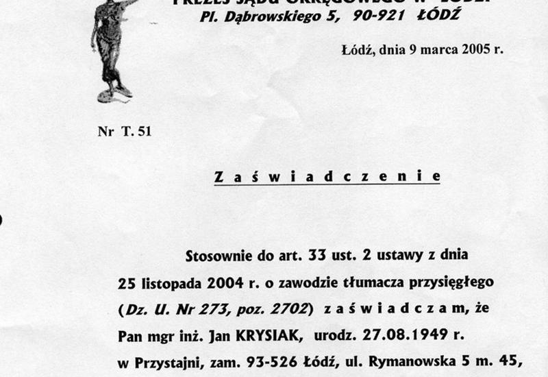 tłumacz łódź - Tłumacz Przysięgły J. Cze... zdjęcie 6