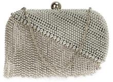 Kryształowa srebrna wizytowa torebka damska SILVER