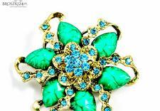broszki z kryształkami - Broszki24.pl. Biżuteria, ... zdjęcie 8