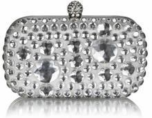 Kryształowa biała wizytowa torebka damska IVORY